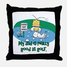 Dad's Golf Gifts Throw Pillow