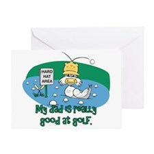 Dad's Golf Gifts Greeting Card