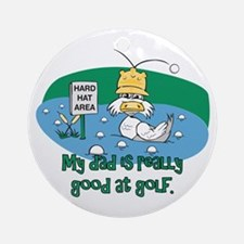 Dad's Golf Gifts Ornament (Round)