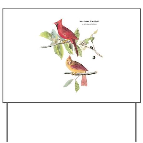 Audubon Northern Cardinal Bird Yard Sign