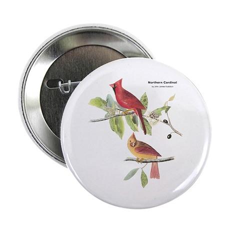 "Audubon Northern Cardinal Bird 2.25"" Button"