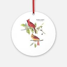 Audubon Northern Cardinal Bird Ornament (Round)