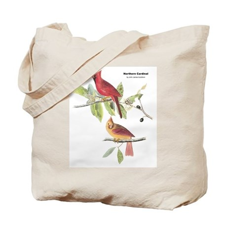 Audubon Northern Cardinal Bird Tote Bag