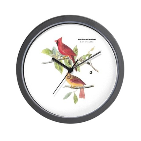 Audubon Northern Cardinal Bird Wall Clock