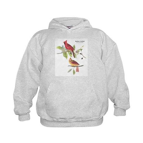 Audubon Northern Cardinal Bird Kids Hoodie