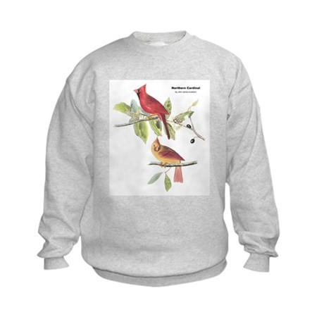 Audubon Northern Cardinal Bird Kids Sweatshirt