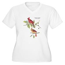 Audubon Northern Cardinal Bird (Front) T-Shirt