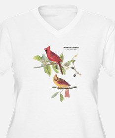 Audubon Northern Cardinal Bird (Front) T-Shirt