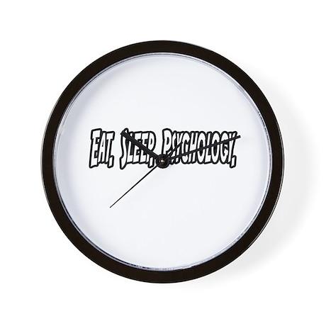 """Eat. Sleep. Psychology."" Wall Clock"