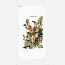 Audubon American Robin Birds Banner
