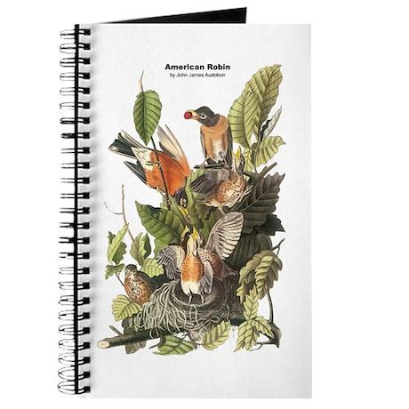 Audubon American Robin Birds Journal