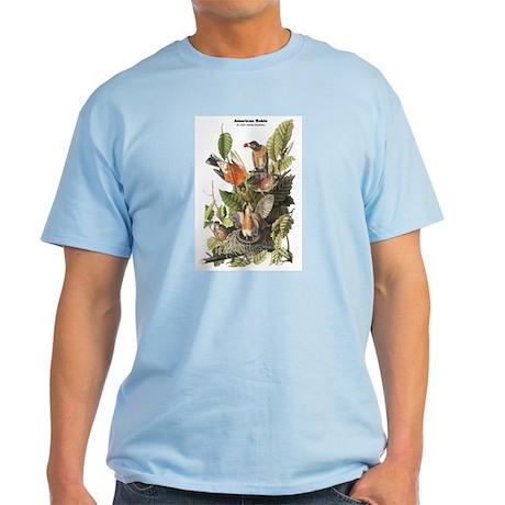Audubon American Robin Birds Light T-Shirt