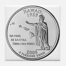 Hawaii State Quarter Tile Coaster