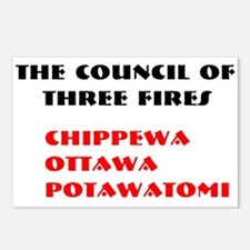 THREE FIRES Postcards (Package of 8)