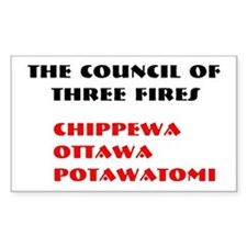 THREE FIRES Rectangle Decal