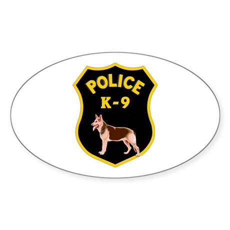 K9 Police Officers Sticker (Oval)