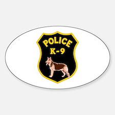 K9 Police Officers Sticker (Oval)