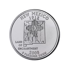 "2008 New Mexico State Quarter 3.5"" Button"
