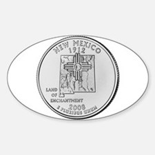 2008 New Mexico State Quarter Oval Decal
