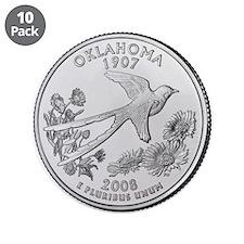 "2008 Oklahoma State Quarter 3.5"" Button (10 p"