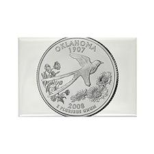 2008 Oklahoma State Quarter Rectangle Magnet