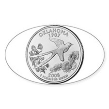 2008 Oklahoma State Quarter Oval Decal