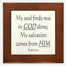 MY SOUL FINDS REST IN GOD ALO Framed Tile
