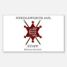 Needleworth Jail Rectangle Decal