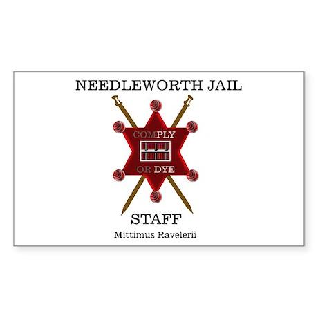 Needleworth Jail Rectangle Sticker