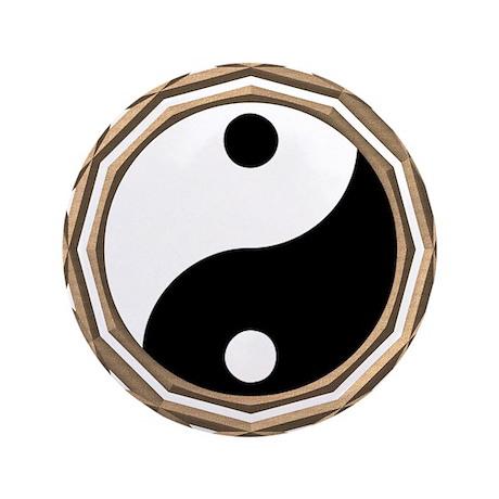 """Yin Yang 3.5"""" Button (100 pack)"""