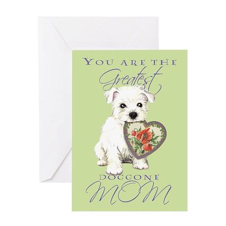 Cavalier I Love Mom Greeting Card