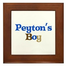 Peyton's Boy Framed Tile