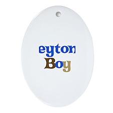 Peyton's Boy Oval Ornament