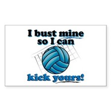 Bust Mine Vball Rectangle Decal