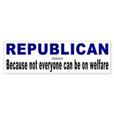 Conservative Republican Bumper Bumper Sticker
