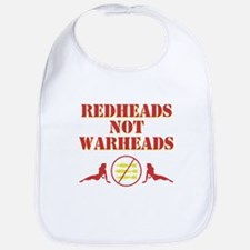 Redheads not Warheads Bib