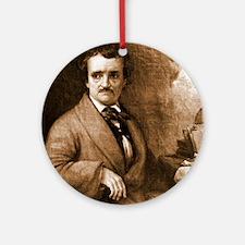 Edgar Allan Poe Ornament (Round)