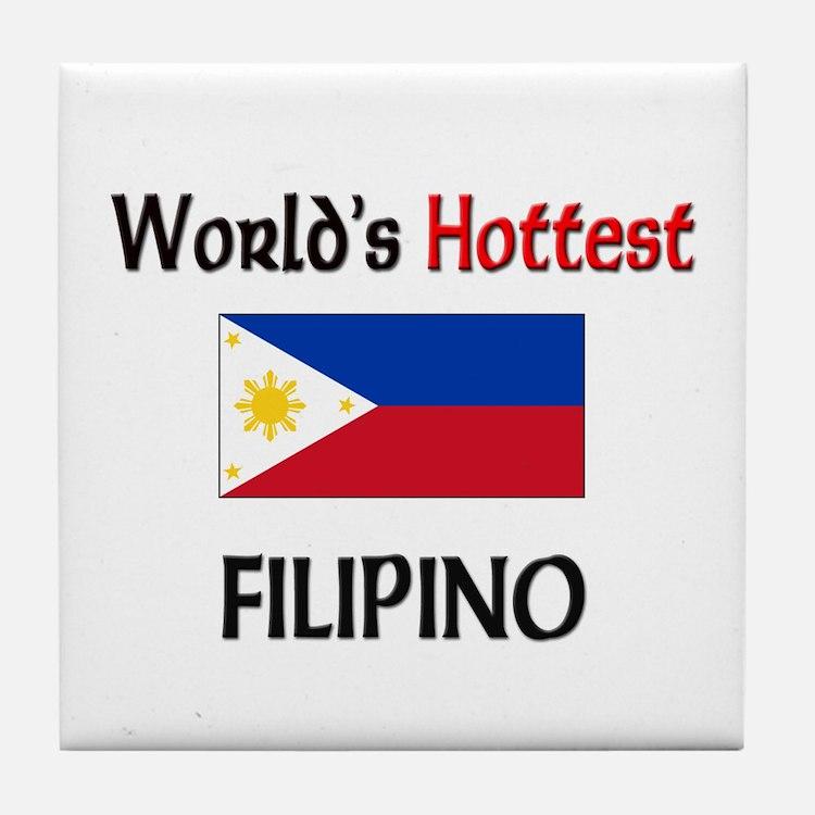 World's Hottest Filipino Tile Coaster