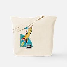 Space Rocket Ride Tote Bag