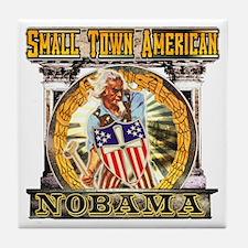 Nobama anti obama Tile Coaster
