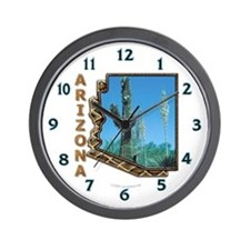 Arizona Saguaro Cactus Wall Clock