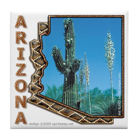 Arizona Saguaro Cactus Tile Coaster