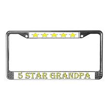 5 Star Grandpa License Plate Frame