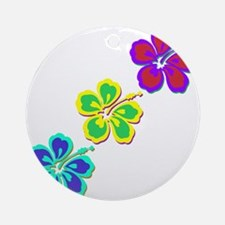 Draping Hibiscus Ornament (Round)