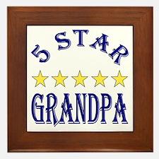 5 Star Grandpa Framed Tile