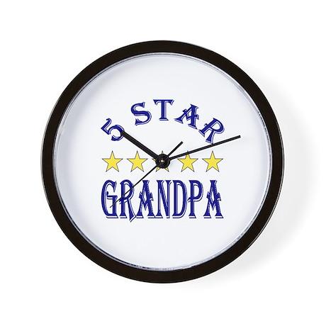 5 Star Grandpa Wall Clock