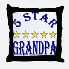 5 Star Grandpa Throw Pillow