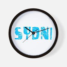Sydni Faded (Blue) Wall Clock