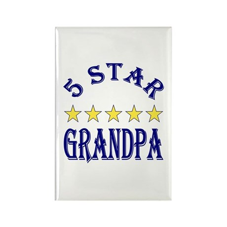 5 Star Grandpa 2 Rectangle Magnet (100 pack)