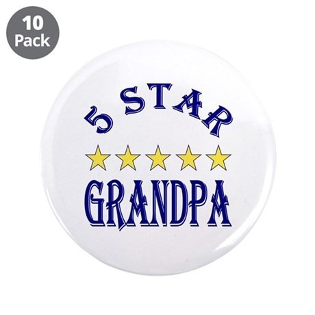 "5 Star Grandpa 3.5"" Button (10 pack)"